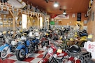 Vintage and rare motorcycles on display at the Kansas Motorcycle Museum in Marquette, Kansas.