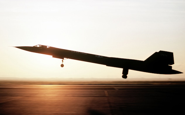 A SR-71 takes off at Beale Air Force Base California. (U.S. Air Force photo)