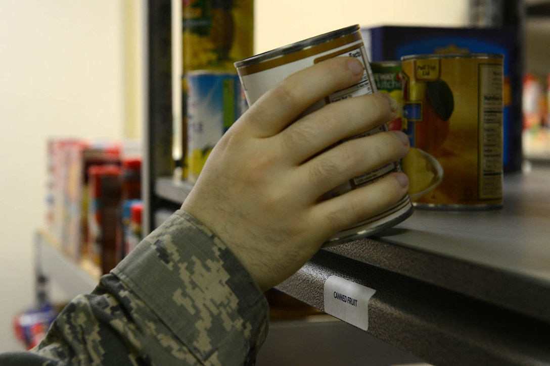 The Armed Services YMCA of Alaska offers two food pantries on Joint Base Elmendorf-Richardson. The food pantries on the installation assist military families who experience unbudgeted expenses during the month. (U.S. Air Force photo by Airman 1st Class Javier Alvarez)