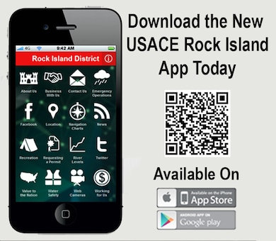 The USACE Rock Island app provides users with information about river levels, recreation, business with us, emergency operations, social media connections, navigation charts, news, how to requesting a permit, web cameras, employment opportunities and more.