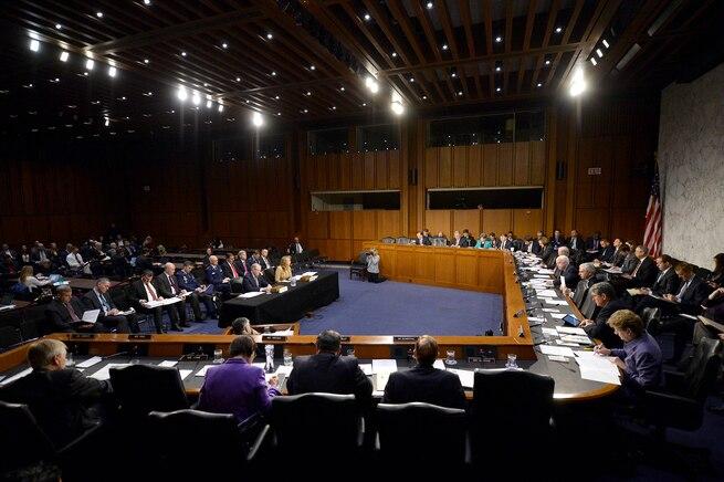 Air Force Secretary Deborah Lee James testifies before the Senate Armed Services Committee in Washington, D.C., Jan. 27, 2016. U.S. Air Force photo by Scott M. Ash