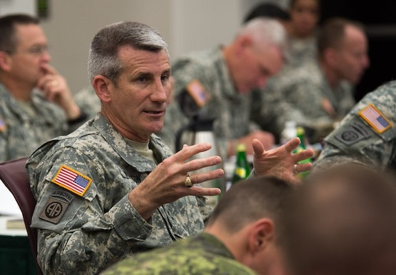 Gen. John W. Nicholson Jr., seen here as commander of the Army's 82nd Airborne Division in 2014, has been chosen to succeed Gen. John F. Campbell as commander of U.S. forces in Afghanistan. (Army photo by Sgt. Mikki L. Sprenkle)