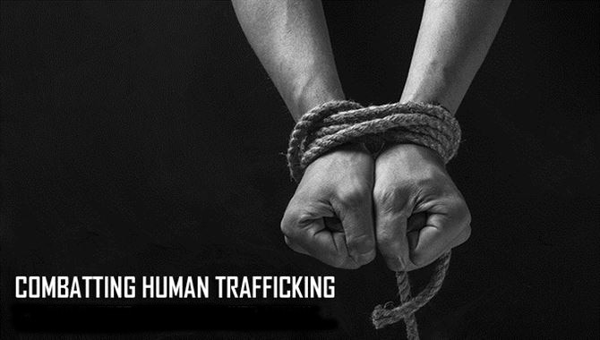 Human trafficking is a crime involving the exploitation of someone for the purposes of involuntary labor or a commercial sex act through the use of force, fraud or coercion. The Department of Defense began the Combating Trafficking In Persons Program in 2014 in order to mitigate the effects of human trafficking not just in the U.S., but also abroad. (U.S. Air Force graphic)