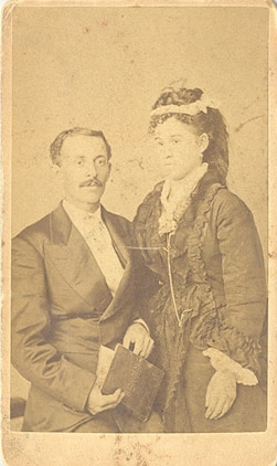 Bertrand Ewell Trenis and Martha Fox were married July 5, 1838. They lived at Oak Hill, a plantation located in what is now the west side of Marine Corps Base Quantico. Oak Hill is now in ruins and the family graveyard where Bertrand and Martha are buried was unidentified until their great-great-great granddaughter located it late last year with the help of base archaeologist Kate Roberts.