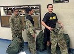 New Army recruits receive updated operational camouflage pattern Army combat uniforms and accessories at Fort Benning, Georgia, Dec. 20. Approximately 1,300 recruits at Fort Benning have already been issued the fiscal year 2016 clothing bag, which includes OCP ACUs and accessories.