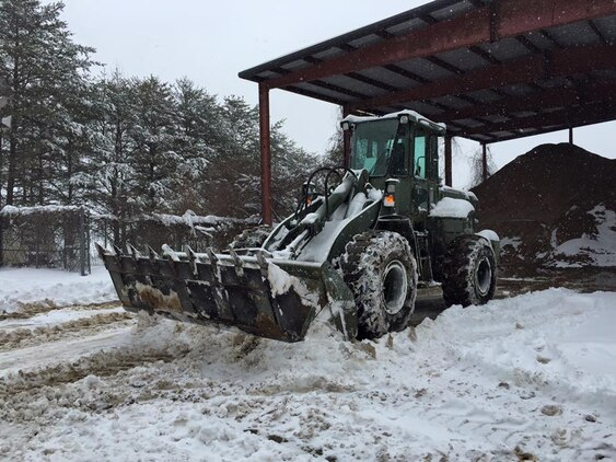 Heavy equipment was needed to dig out after the historic storm.