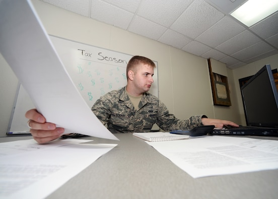 With Tax Season quickly approaching, the Andersen AFB legal office is offering a self-service kiosk that allows military members to file their taxes independently. This year the kiosk will be available by appointment to all Active-Duty service members who are stationed at Andersen AFB and their dependents, and members of the Guard or Reserve in title 10 status. Appointments will be made available to retirees on select Saturdays during the tax season. (U.S. Air Force photo/Senior Airman Cierra Presentado)