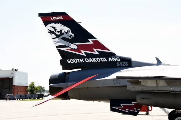SIOUX FALLS, S.D.- This year marks the 70th anniversary of the South Dakota Air National Guard and the unit will be flying this commemorative aircraft over the next few months to recognize this milestone. This aircraft, along with many more military and civilian aircrafts, will be on static display at the Sioux Falls Airshow at Joe Foss Field, July 23-24, 2016. (U.S. Air National Guard photo by Senior Master Sgt. Nancy Ausland/Released)