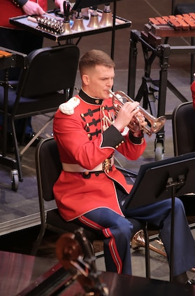 "Staff Sgt. Robert Bonner will perform Herbert L. Clarke's ""The Debutante,"" a virtuoso cornet solo from the golden age of bands on July 6 and 7. More info: http://www.marineband.marines.mil/Portals/175/Docs/Season%20Brochures/summer_brochure_2016Web.pdf?ver=2016-05-31-150545-920"