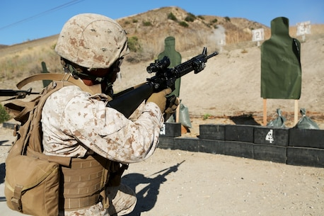 U.S. Marine Cpl. Antonio Victorio conducts a speed reload drill for the table three course of fire during the Combat Leader's Course aboard Camp Pendleton Calif., from June 13-24, 2016. Victorio is a combat engineer with Headquarters and Support Company, Combat Logistics Battalion 1, 1st Marine Logistics Group. Combat Leader's Course is an advanced combat skills course instructed by the Combat Skills Training School, designed to teach Marines tactical leadership principles, machine gun functions, combat orders and various other skills. (U.S. Marine Corps photo by Sgt. Carson Gramley/released)