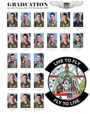 Specialized Undergraduate Pilot Training Class 16-11 set to graduate. (U.S. Air Force graphic/Senior Airman Jimmie D. Pike)