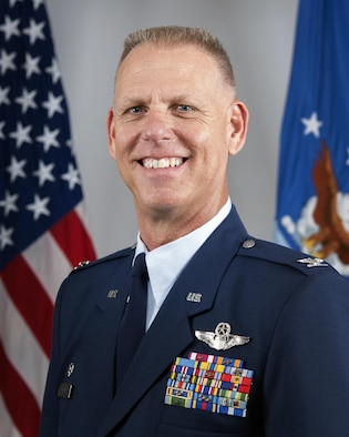 Col. Larry H. Shaw, 434th Air Refueling Wing commander, poses for an official photo at Grissom Air Reserve Base, Ind., June 30, 2016.  Shaw assumed command of the 434th ARW following the retirement of former commander Col. Douglas Schwartz. (U.S. Air Force photo/Tech. Sgt. Benjamin Mota)