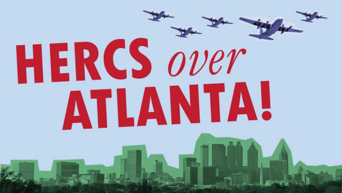Air Force Reservists from the 94th Airlift Wing are scheduled to fly proficiency training missions over downtown Atlanta and much of the metro area on Saturday, July 9, 2016. The formation flights are intended to provide the operations and maintenance crews required training, but to also showcase the skills of the wing's Reserve Airmen in the place many of them call home. (U.S. Air Force photo illustration by Staff Sgt. Alan Abernethy)