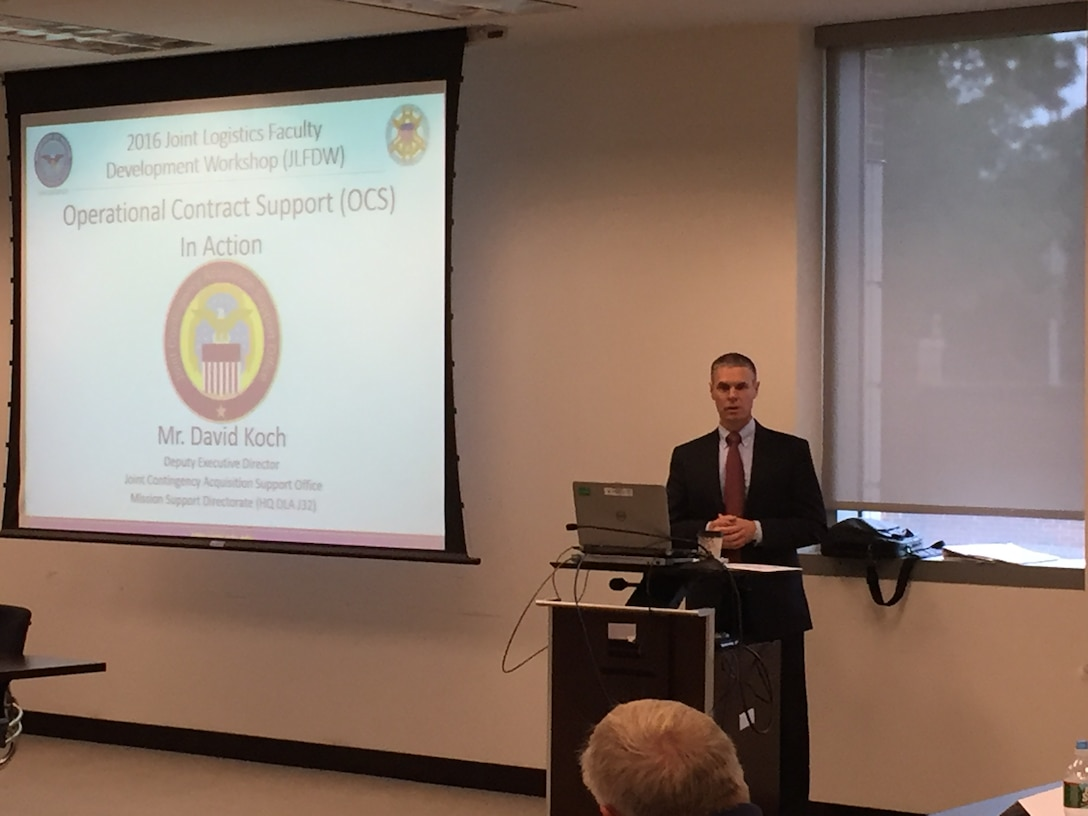 Mr. David Koch, Deputy Director for the Joint Contingency Acquisition Support Office, describes the Operational Contract Support his organization has helped execute for successful outcomes in recent contingency operations.