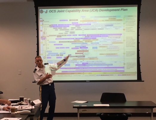 Army Colonel Matthew Riordan, Chief of the Operational Contract Support & Services Division, Joint Staff Directorate for Logistics, illustrates the many efforts his unit and others are undertaking to successfully implement the tenets of Operational Contract Support throughout the Department of Defense.