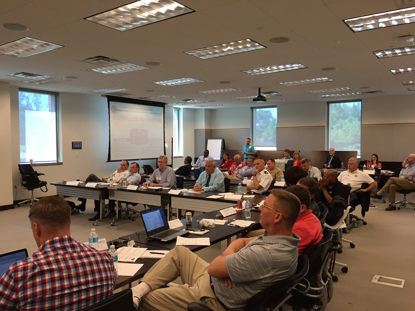 Over 30 faculty and staff members from  across the Department of Defense (DoD) joint professional military, graduate and continuing education schools, as well as Office of the Secretary of Defense, Joint and Service logistics directorates, recently gathered at the National Defense University on Fort McNair in Washington DC for the annual Joint Logistics Faculty Development Workshop.  The purpose of this event, hosted by the Center for Joint & Strategic Logistics (CJSL), was to bring the joint logistics professional development community of practice together to hear about the latest issues facing the Joint Logistics Enterprise.  In addition, the participants traded best practices for teaching logistics and sustainment principles at their respective institutions.