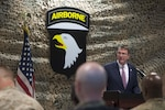 Defense Secretary Ash Carter speaks with service members during a troop event in Baghdad, July 11, 2016. DoD photo by Navy Petty Officer 1st Class Tim D. Godbee