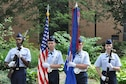 Members of the Youngstown Air Reserve Station (YARS) Civil Air Patrol (CAP) Squadron Honor Guard, based in Vienna, Ohio, present the colors during the opening ceremony of the annual Summer Festival of the Arts held on the Youngstown State University campus here, July 9, 2016. According to the squadron's website, CAP is the United States Air Force Auxiliary and is tasked with the cadet program, emergency services and aerospace education. Rising from its roots in World War II, CAP is a benevolent, nonprofit organization dedicated to saving lives, flying counterdrug missions, providing disaster relief, advancing young people and supporting America's educators. For more information about the YARS CAP Squadron, please visit http://oh051.ohwg.cap.gov/ (Courtesy photo/Deana Barko)
