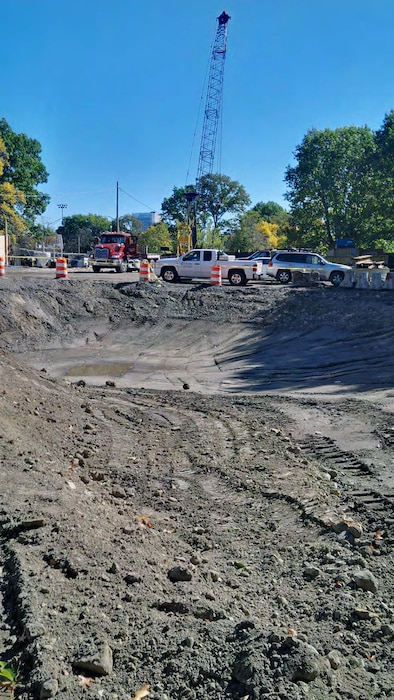 Excavation of the area between Upper Fens Pond and Avenue Louis Pasteur to daylight and begin construction of the Flood Risk Management Channel – mid October 2015.
