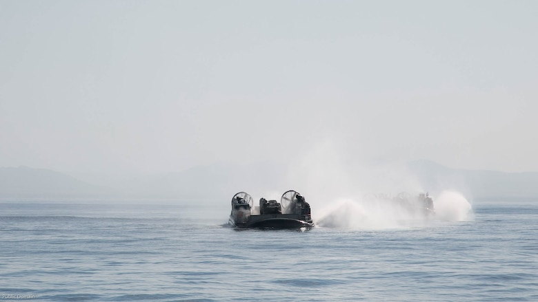 Senior U.S. and foreign military leaders at sea, not shown, observe a Landing Craft Air Cushion during an amphibious assault demonstration during the USPACOM Amphibious Leaders Symposium off the coast of U.S. Marine Corps Base Camp Pendleton, Calif., July 13, 2016. PALS brings together senior leaders of allied and partner nations from the Indo-Asia Pacific region to discuss key aspects of maritime/amphibious operations, capability development, crisis response, and interoperability. Twenty-two allied and partnered nations, including the U.S. are participating.