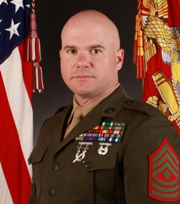 First Sergeant Todd C. Jones, Inspector-Instructor First Sergeant, Fox Battery, 2nd Battalion, 14th Marine Regiment