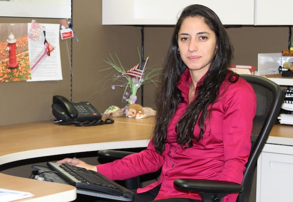 Defense Contract Management Agency Garden City, New York, employee Marta Akopyan recently completed a rotational assignment at DCMA Dallas' San Antonio office. She is a contract administrator who participated in the agency's three-year Keystone program. She graduated from the program in January