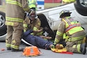 Robins Fire Emergency Services personnel participate in vehicle extrication training. The training is a requirement for all firefighters. (U.S. Air Force photo by Angela Woolen)