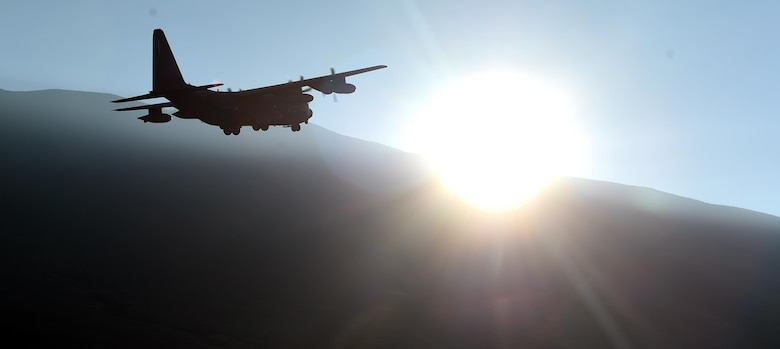 An MC-130J Commando II with the 17th Special Operations Squadron performs a fly by over Pohakuloa Training Area, Hawaii, July 14, 2016. The 353rd SOG led special operations assets and conventional forces from all four branches of the U.S. Armed Forces in a multi-aircraft, joint airborne operation as part of Rim of the Pacific (RIMPAC) 2016 to strengthen their relationships and interoperability with their partners. (U.S. Air Force photo by 2nd Lt. Jaclyn Pienkowski/Released)
