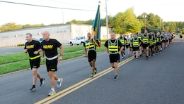 "Lieutenant General Charles D. Luckey, chief of Army Reserve and commanding general, U.S. Army Reserve Command, leads Soldiers and Airmen at the Army's Noncommissioned Officer Academy on a 3-mile run July 15 on Joint Base McGuire-Dix-Lakehurst, New Jersey. As USARC's commanding general, Luckey leads a community-based force of more than 200,000 Soldiers and Civilians with a ""footprint"" that includes 50 states, five territories, and more than 30 countries. The Army Reserve is a critical force provider of trained and ready units and Soldiers providing full spectrum capabilities essential for the Army to fight and win wars and respond to homeland emergencies on behalf of the American people."