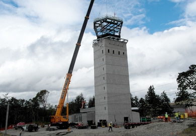 Joint Base Lewis-McChord and Seattle District, USACE, marked the successful raising of the 70,000 pound JBLM Air Traffic Control Tower cab in July. The construction community shared in this momentous event with employees and contractors who support our military mission out on site.