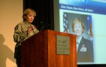 Air Force Lt. Gen. Wendy Masiello, Defense Contract Management Agency director, delivers the opening remarks at the agency's annual Aircraft Operations Training Seminar at National Conference Center, August 18, in Leesburg, Va.