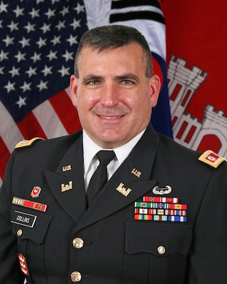 Lieutenant Colonel Richard C. Collins became the deputy commander for the U.S. Army Corps of Engineers, Far East District, in July 2016.