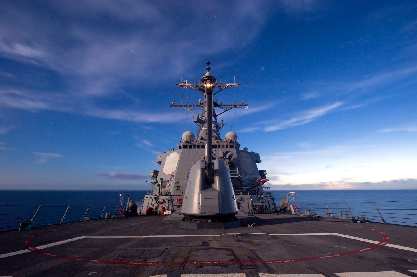 Guided-missile destroyer USS Cole (DDG 67) is underway conducting routine training and operations in preparation for an upcoming deployment with the George H.W. Bush Strike Group.