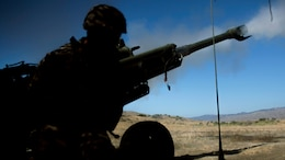Marines with Battery Q, 4th Tank Battalion, 4th Marine Division, Marine Forces Reserve, fire a M777A2 Howitzer during their annual training exercise aboard Marine Corps Base Camp Pendleton, California, July 16, 2016. Annual training exercises ensures that Reserve Marines are trained and prepared for any future operation or contingency.