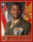 Official portrait of Sergeant Major Charles R. Williams, who assumed post as Marine Corps Base Quantico's new Sergeant Major on July 9, 2016.