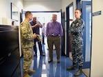 Left to Right:  Command Sgt. Maj. Tobin, Chris Buchanan of DLA Disposition San Diego, DLA Distribution San Diego deputy director Mark Patzman and Capt. Soracco, commander.