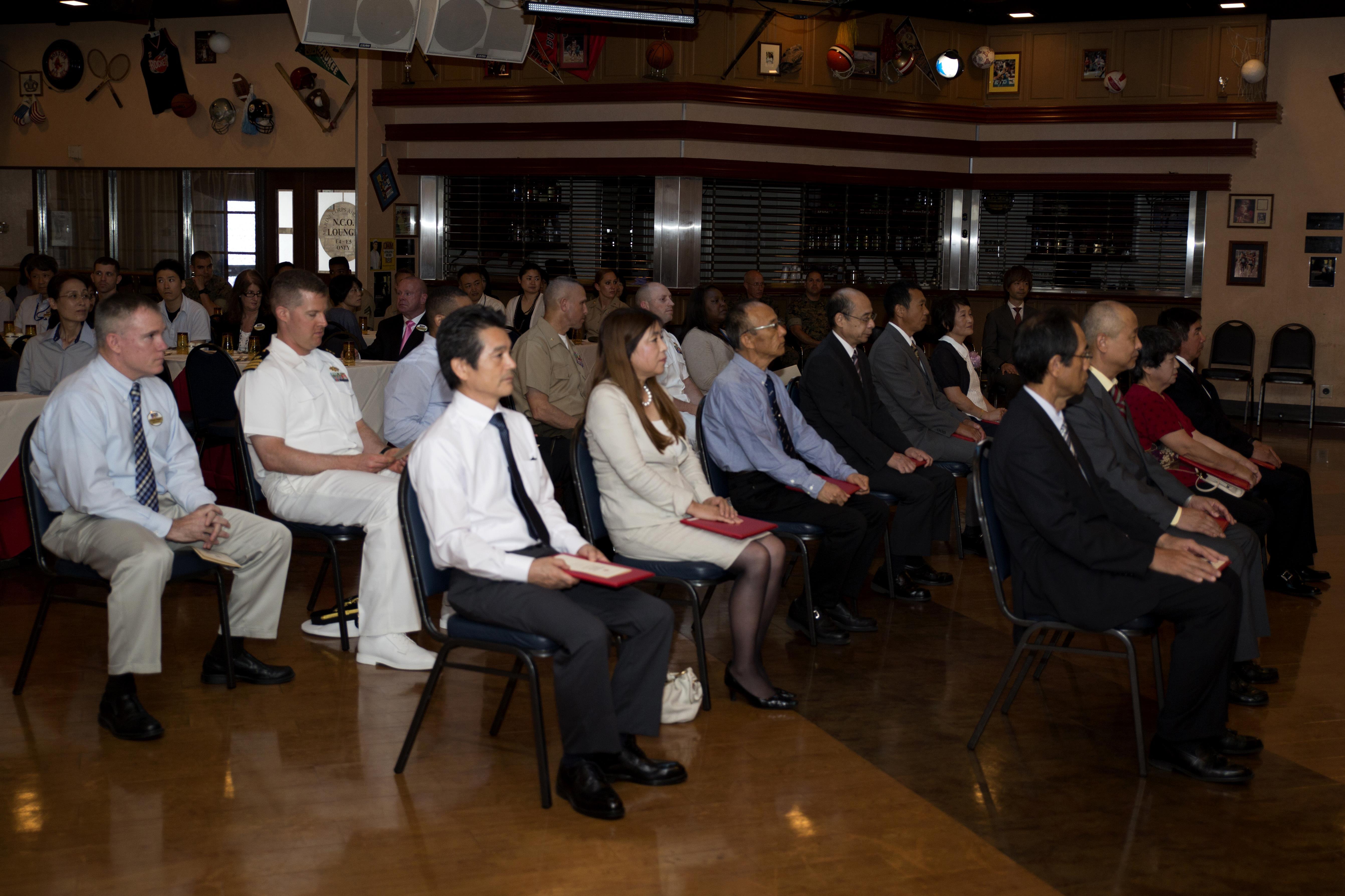 MCAS Iwakuni honors 25 Japanese retirees with ceremony > Marine