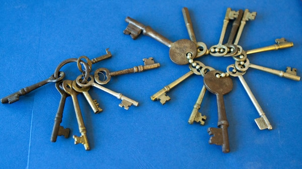 Original skeleton keys from the World War II Prisoner of War camp located at New Cumberland Army Depot in the 1940's.