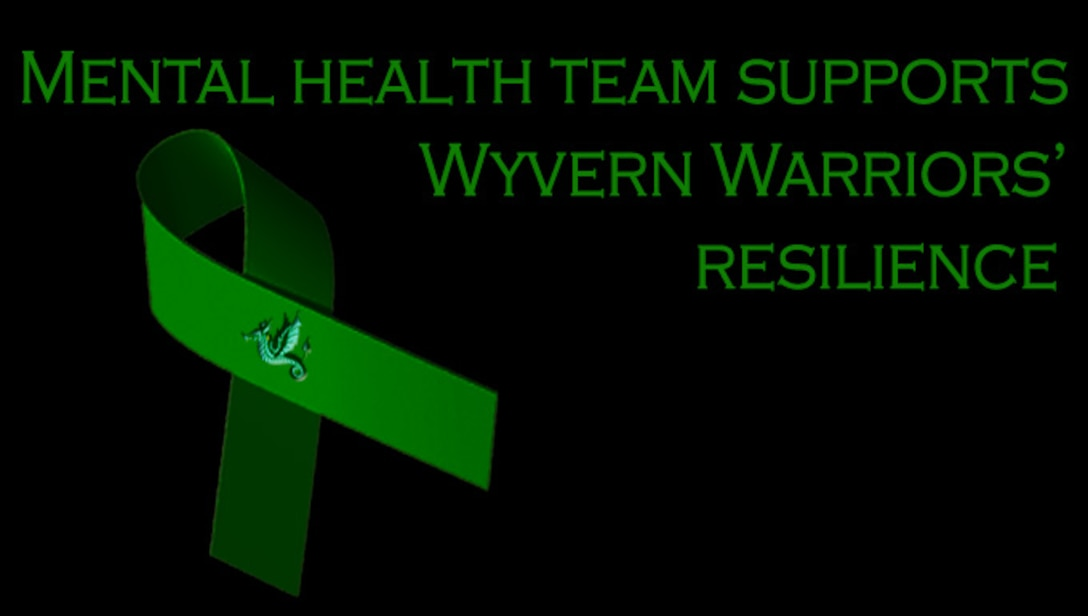 The 31st Medical Operations Squadron, the chaplains and the Airman and Family Readiness Center compose the Disaster Mental Health team which helps provide Team Aviano with mental health assistance following a traumatic incident. The green ribbon, which signifies mental health awareness, serves as a reminder for those suffering from psychological illnesses to seek help. (U.S. Air Force graphic by Senior Airman Krystal Ardrey/Released)