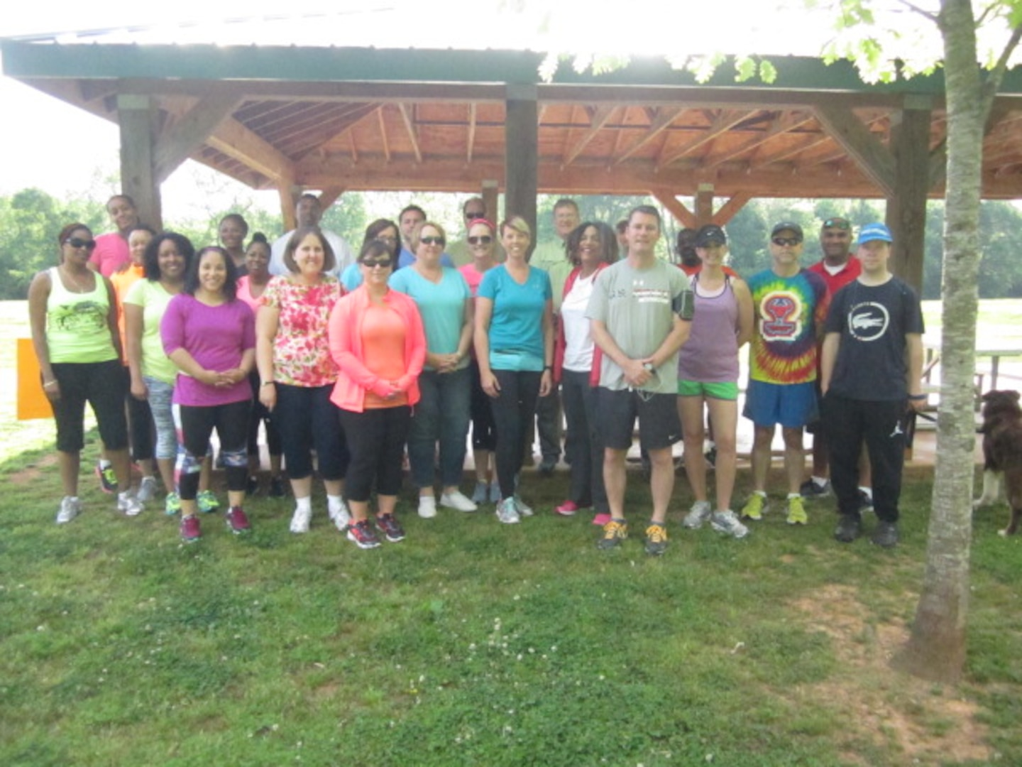 Thirty Defense Contract Management Agency Huntsville team members recently participated in a two-mile walk/run in observance of Sexual Assault Awareness and Prevention Month. The command hosted several events throughout the day, including a presentation led by Tracy Anderson, the agency's Central Regional Command Sexual Assault Prevention and Response Program victim advocate.