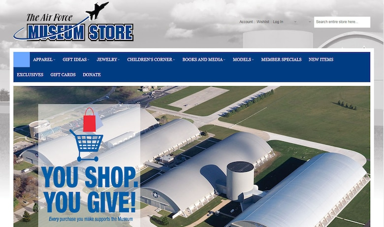 The Air Force Museum Store has a new website with an improved layout and design that makes it easier than ever to shop a growing selection of gifts, apparel, books, toys, edible items and more.