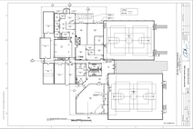 Blueprints for renovations to the 20th Force Support Squadron Shaw Fitness and Health Center. The renovations, which will include new basketball and racquetball courts, an aerobics room, and a parent-child area, are expected to be completed in August 2017. (Courtesy graphic)