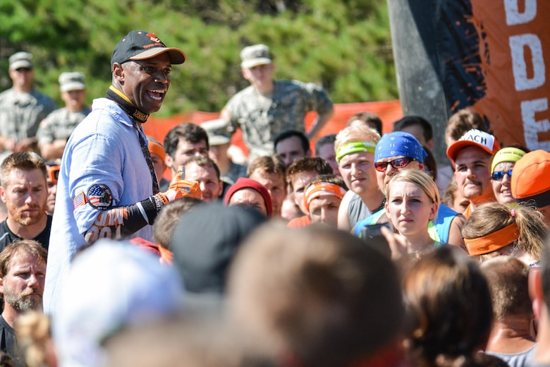 HUGO, Minn. -- After Mudders make their way to the start line where they must overcome a seven-foot wall provided by the Army, they are greeted by Sean Cordelle, Tough Mudder's Start Line Motivator. This summer Hugo Minnesota was the location for an Army Reserve-sponsored Tough Mudder held July 16 and 17, 2016. For the past several years the U.S. Army Reserve has joined forces with Tough Mudder in an effort to strengthen its partnership with the local community, while fostering the resilience of Soldiers, Families, and Civilians.