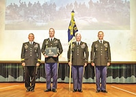 The 172nd Hazard Response Company from Fort Riley was awarded the Sibert Award during a ceremony June 24 at Baker Theater at Fort Leonard Wood, Missouri. The award is an annual acknowledgement of the best chemical units in the Army.