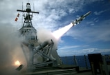 (July 19, 2018) -  USS Coronado (LCS 4), an Independence-variant littoral combat ship, launches a Harpoon Block 1C missile for the first time during exercise Rim of the Pacific (Rim of the Pacific). Twenty-six nations, 40 ships and submarines, more than 200 aircraft and 25,000 personnel are participating in RIMPAC from June 30 to Aug. 4, in and around the Hawaiian Islands and Southern California. The world's largest international maritime exercise, RIMPAC provides a unique training opportunity that helps participants foster and sustain the cooperative relationships that are critical to ensuring the safety of sea lanes and security on the world's oceans. RIMPAC 2016 is the 25th exercise in the series that began in 1971.