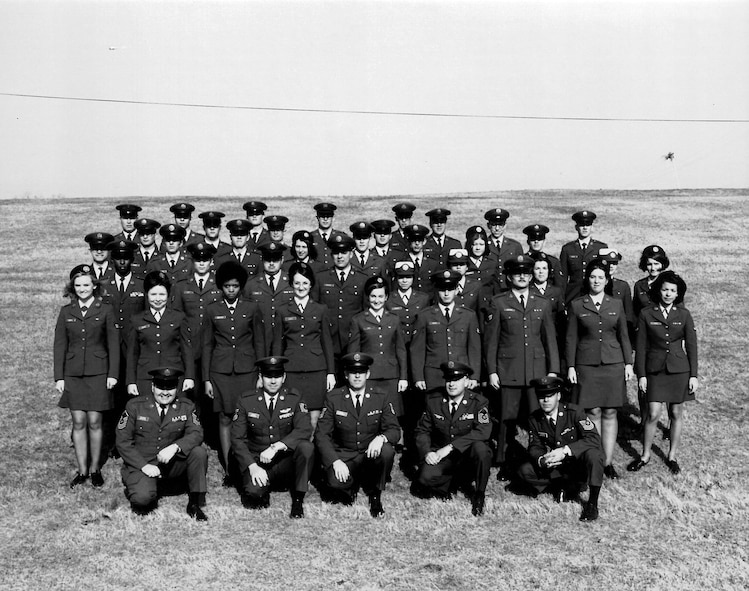 Noncommissioned Officer Leadership school 71-3L, with Women in the Air Force, or WAFs,  and staff at the I.G. Brown Training and Education Center on McGhee Tyson Air National Guard Base in Louisville, Tenn. Women were accepted on an equal basis with men in 1976, and the WAF program ended. NCO leadership school was the precursor to today's Air Force Airman leadership school.(U.S. Air National Guard photo)