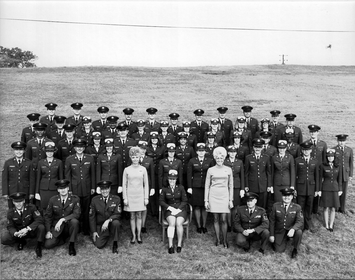 Noncommissioned Officer Leadership school 71-2L, with 22 Women in the Air