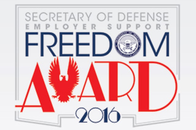 Secretary of Defense Employer Support Freedom Award 2016 logo