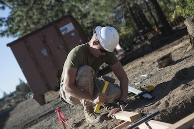 Marines with Engineer Services Company, Combat Logistics Battalion 23, 4th Marine Logistics Group, teamed up with the U.S. Forest Service to participate in a two-week annual training event at the Willamette National Forest in Oregon, July 14-27, 2018. (U.S. Marine Corps photo by Sgt. Sara Graham/ Released)