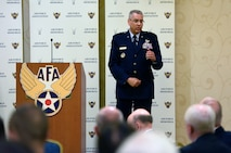 Lt. Gen. Jack Weinstein, the deputy chief of staff for strategic deterrence and nuclear integration, speaks about the importance of modernizing the Air Force's nuclear mission during an Air Force Association breakfast July 21, 2016, in Arlington, Va. According to Weinstein, as long as the world has nuclear weapons, no mission in the U.S. will be greater than the country's maintenance of its nuclear capabilities. (U.S. Air Force photo/Staff Sgt. Alyssa C. Gibson)
